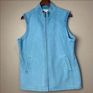 Men's Orvis Blue Zip Up Vest